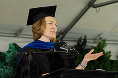 2012 Commencement speaker Elizabeth Brownless Kolmstetter '85
