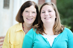 Katherine Clayton Henderson'73 and her daughter Isabel '13, two in a long line of Henderson/Hollins legacies.