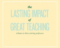 The Lasting Impact of Great Teaching
