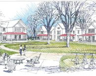 Drawing of student apartment village