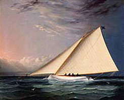 James Buttersworth, A Racing Yacht on the Great South Bay