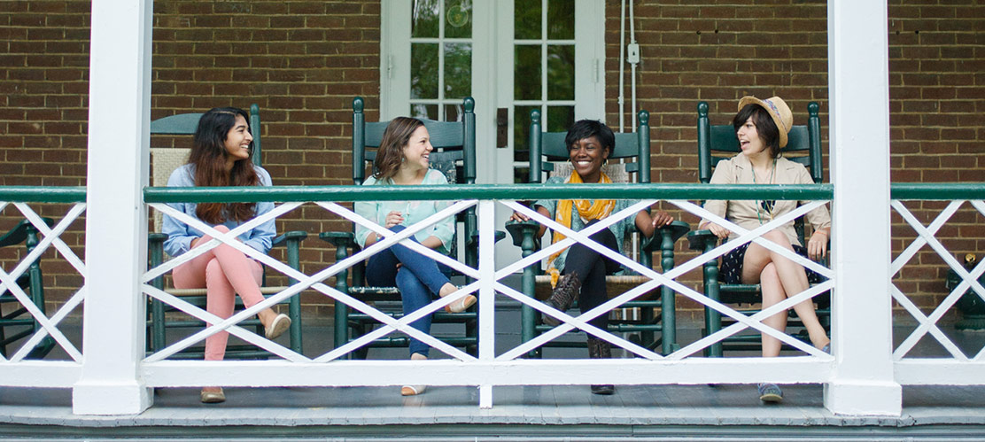 Students at Hollins University