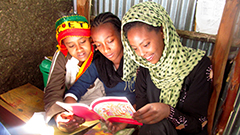 "Children's Literature Students Volunteer to Help Young Ethiopians ""Eager for English"""