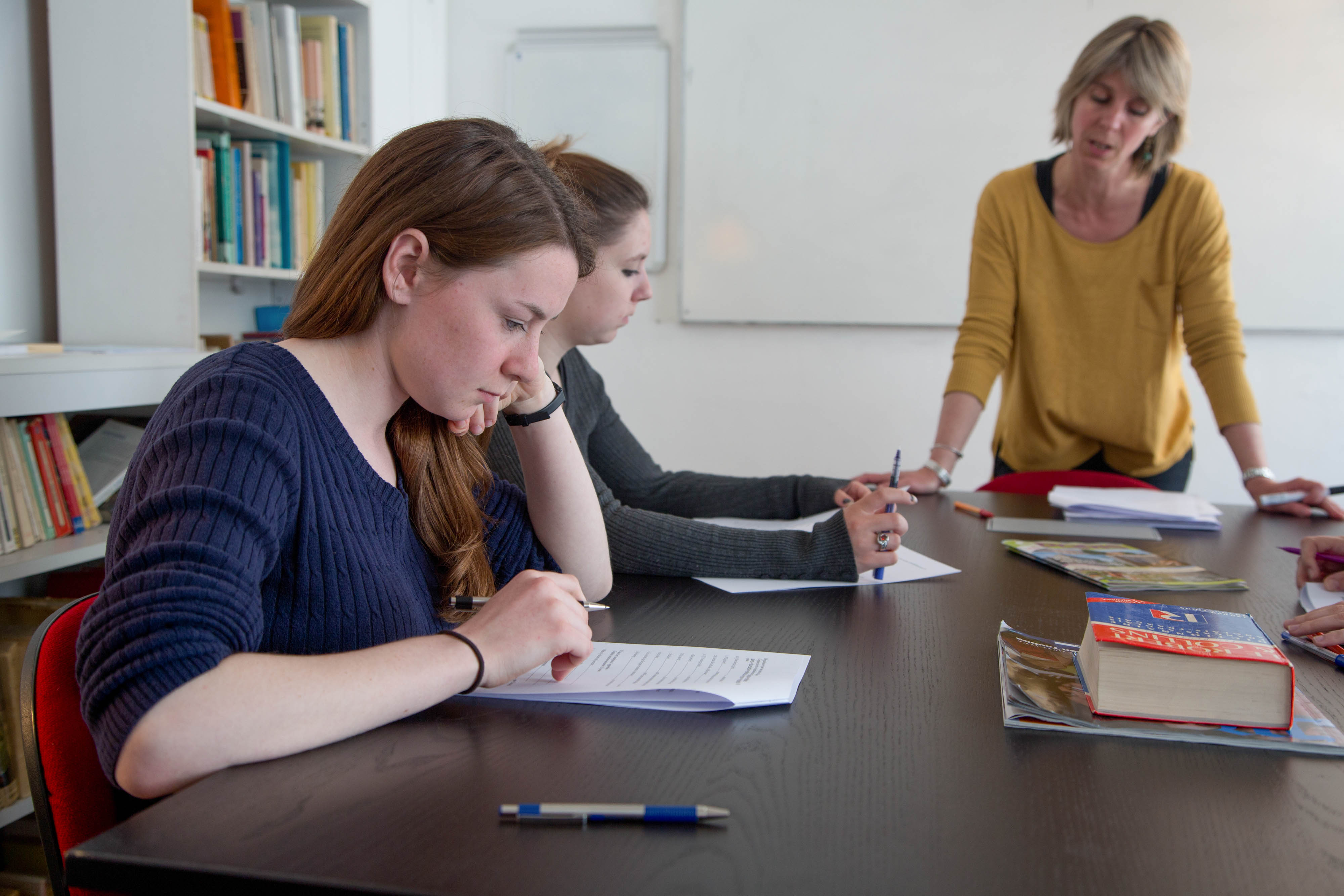Students studying in Paris