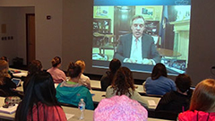 Sen. Mark Warner Talks with Hollins Students about Debt, Entrepreneurship, and Learning from Failure