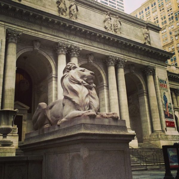 Mid Manhattan library with the fierce lions of knowledge.  #lions #manhattan #nyc #library #myhollins