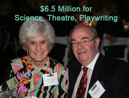 $6.5 million for science, theatre, playwriting