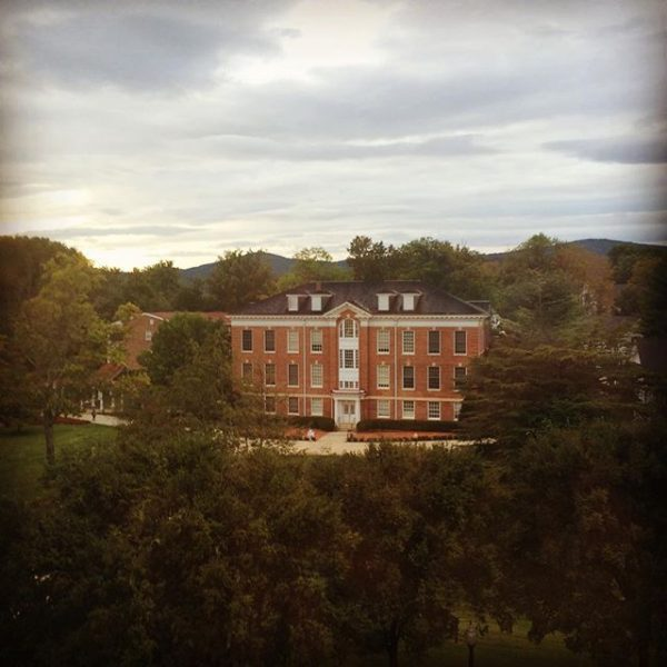 The view from the Hollins Room makes stressing about French completely worth it. #myhollins