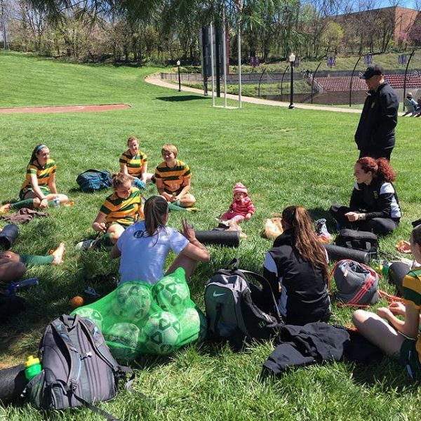 Beautiful day for a soccer tournament! A little rest and snacks before our next match. Thank you to all that were able to make it! It was great hearing our amazing fans! #myhollins #husoccerfamily #believe @hollinsuniversity