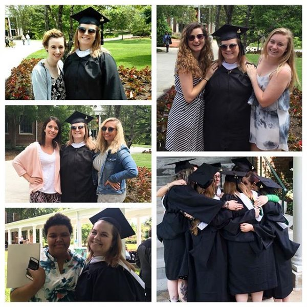 So grateful for my family and my friends that I've known forever that came to see me today, love you guys! I'm also so glad that I met some amazing friends at Hollins these past two years, especially my fellow art majors. I'm so proud of us for all we've accomplished! WE DID IT! #myhollins #hugrad16