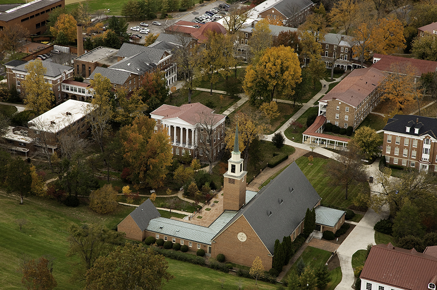 Aerial photo of Hollins