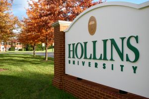 Hollins sign at front entrance
