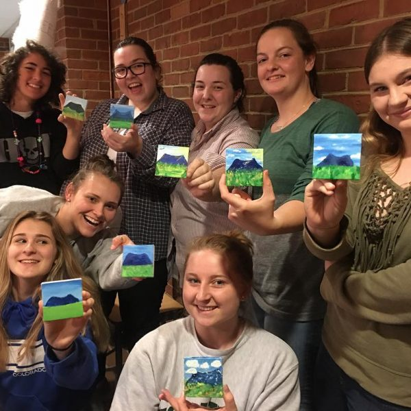 paint night students