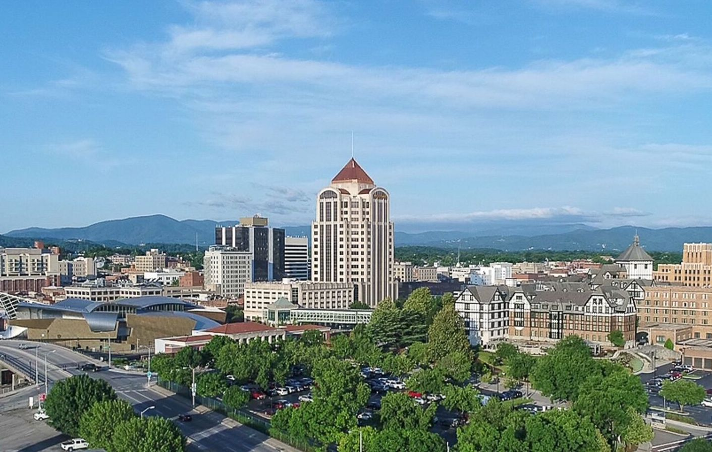 Aerial photo of roanoke