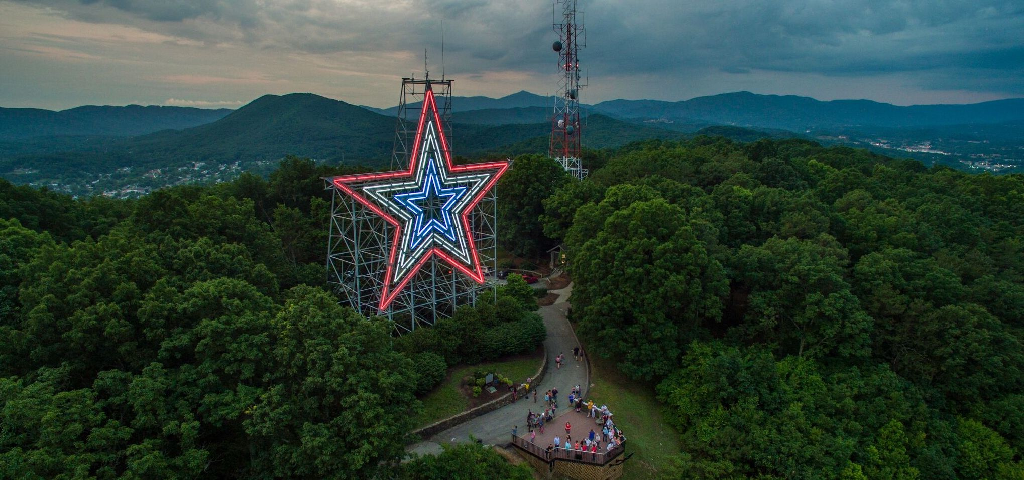 Roanoke Star on top of Mill Mountain