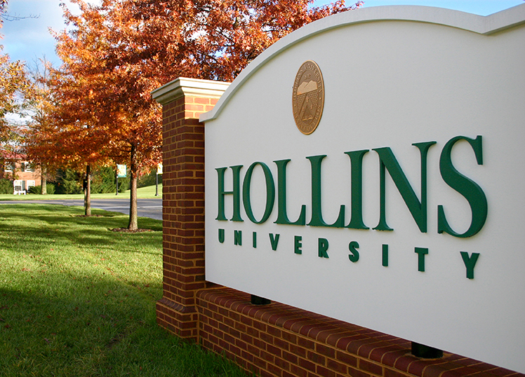 Hollins entrance sign