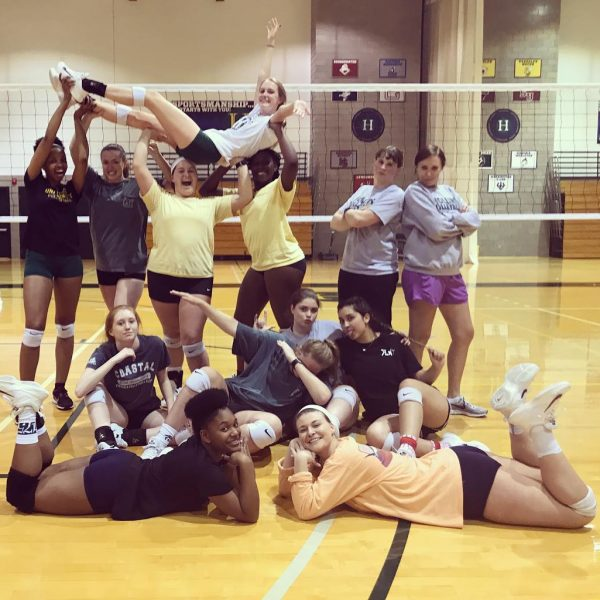 Photo of volleyball team