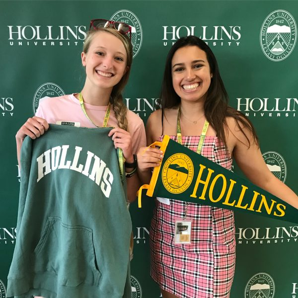 Photo of two students at Enrolled Student Day