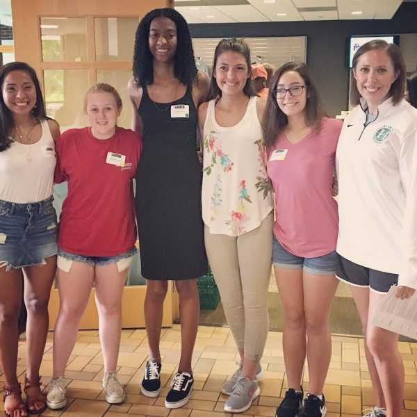 Photo of volleyball players at Enrolled Student Day