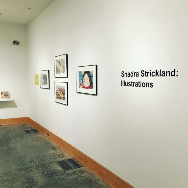 Photo of wall for Shada Strickland exhibition