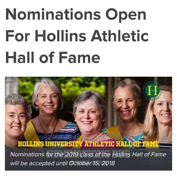 Nominations being accepted for 2019 Athletic Hall of Fame