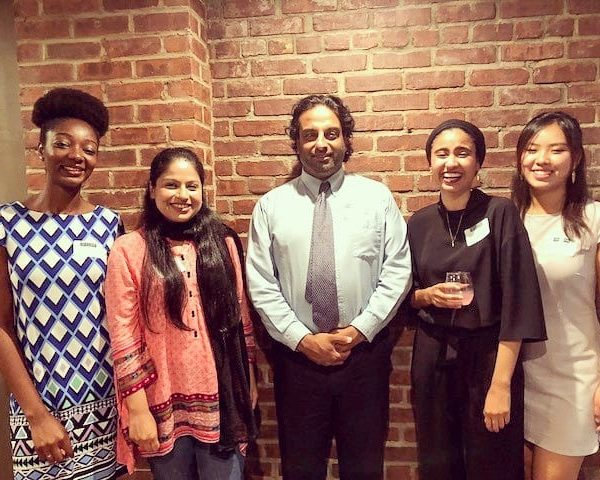Photo of NYC students and alumnae in NYC