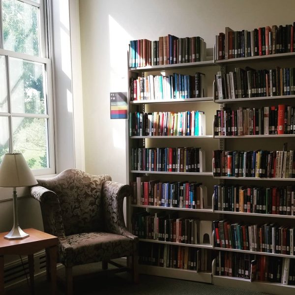 Photo of books in reading area