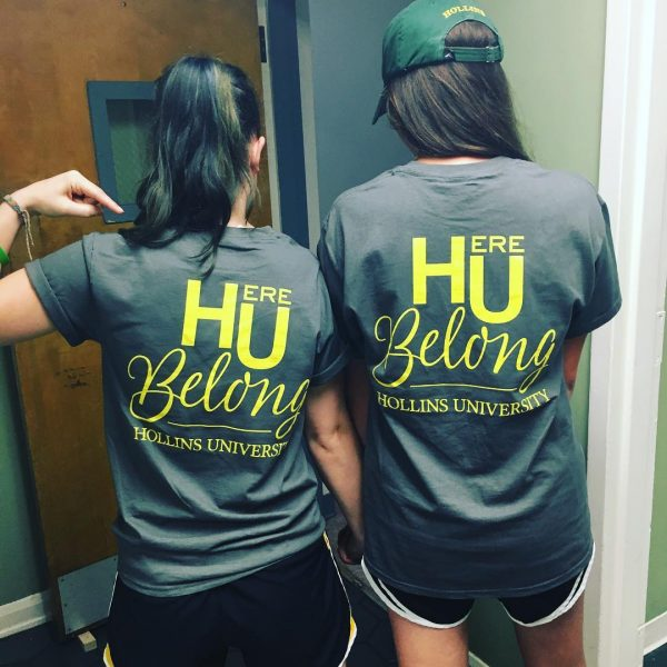 Photo of t-shirts on students