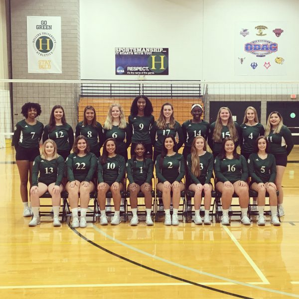 Photo of Hollins volleyball team