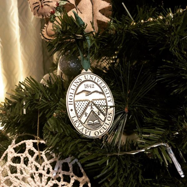 Photo of Hollins ornament on Christmas tree