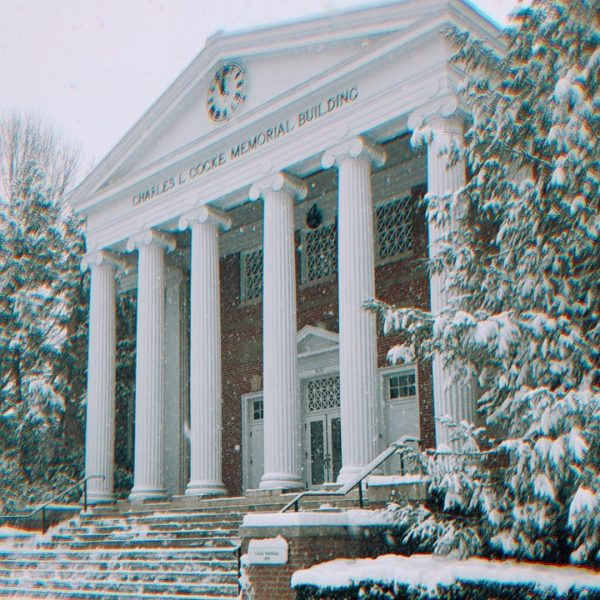 Photo of Cocke Building in the snow