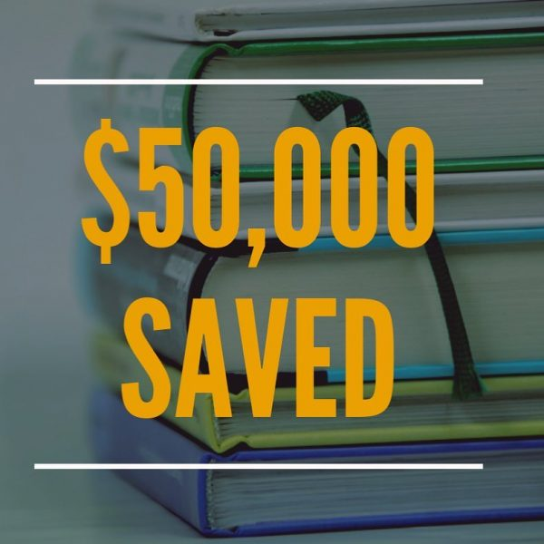 image of money saved in student savings