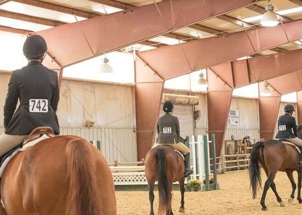 Photo of riders in riding ring