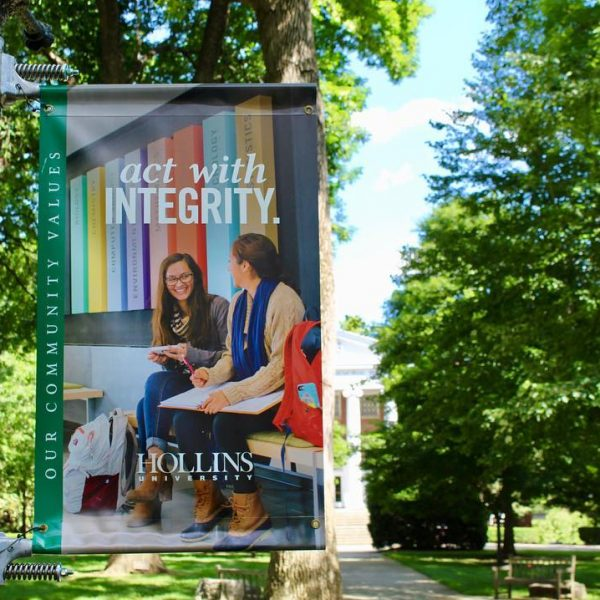 Photo of banner on campus