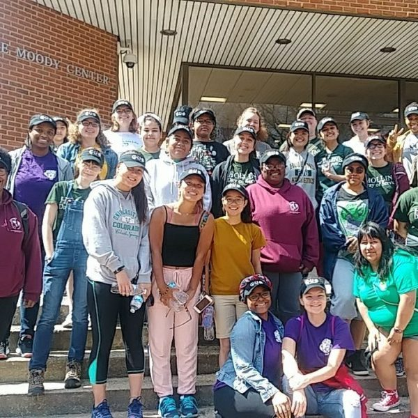 Students after volunteering for Day of Service