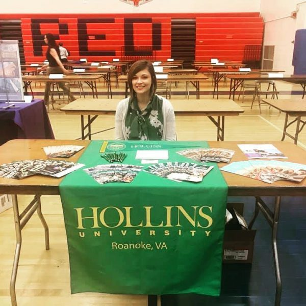 Photo of alumna at College Fair