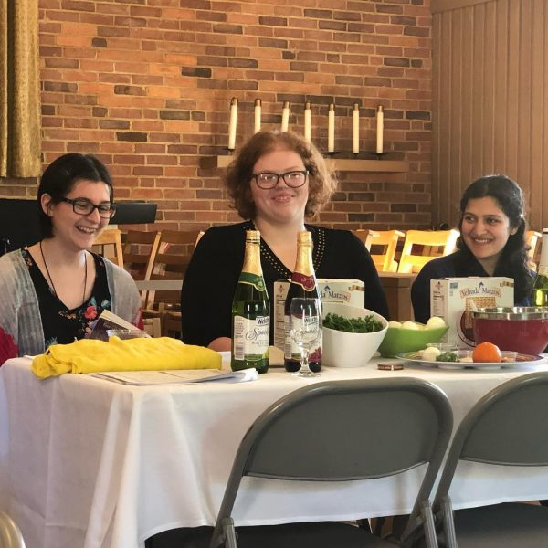 Photo of students at Passover Seder