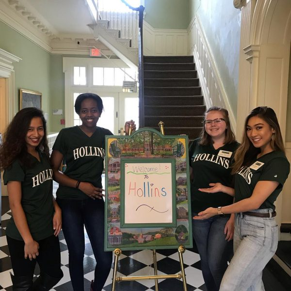 Photo of Hollins students during Spring Visit Day