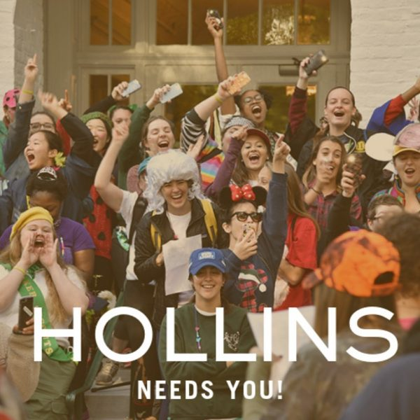 Photo of Hollins students cheering