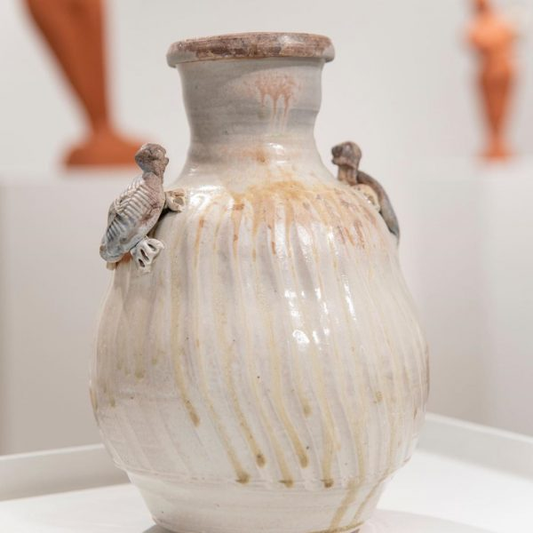 Photo of pottery on exhibit at Eleanor D. Wilson Museum