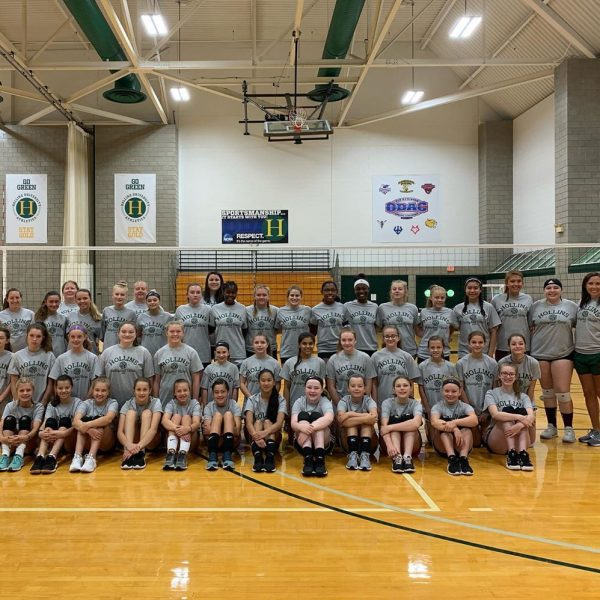 Photo of volleyball camp