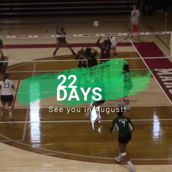 22 days until volleyball athletes are back