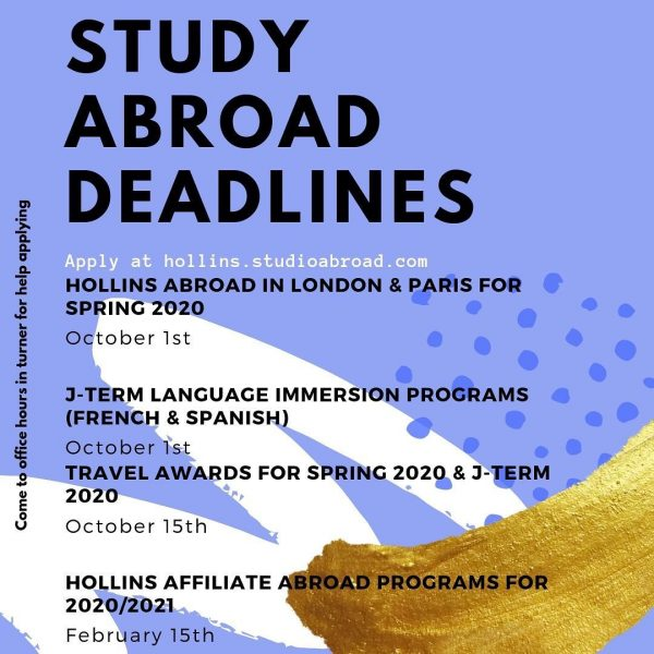 Study Abroad deadlines