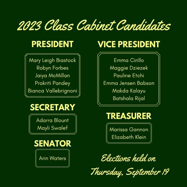 2023 Class Cabinet Candidates