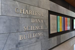 Signage in Dana Science Building