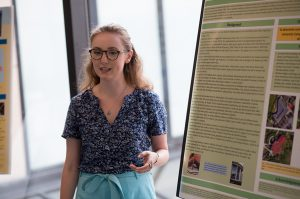 Student presenting during Science Seminar