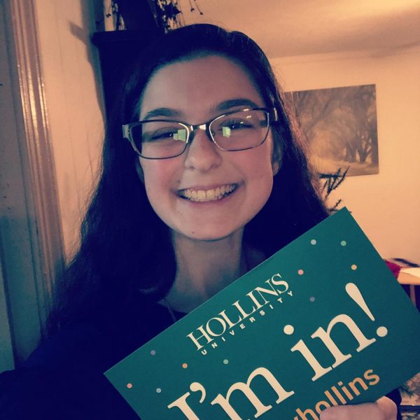 Student accepted to Hollins