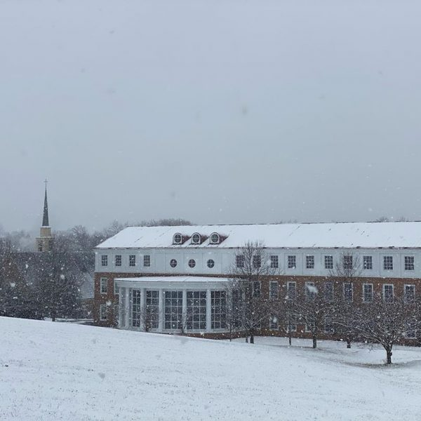 Library in the snow