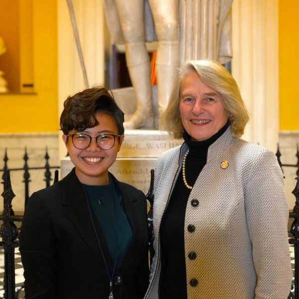 Student interning with Delegate Betsy Carr