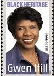 Gwen Ifill postage stamp